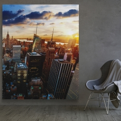 Canvas 48 x 60 - City of new york by dawn