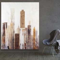 Canvas 48 x 60 - Abstract earthy tones city