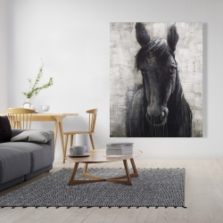 Canvas 48 x 60 - Black horse