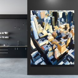 Canvas 48 x 60 - Manhattan view of the empire state building