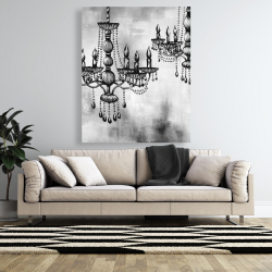 Canvas 48 x 60 - Two crystal chandeliers 2