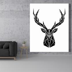 Canvas 48 x 60 - Geometric deer head