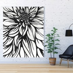 Canvas 48 x 60 - Dahlia flower outline style