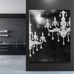 Canvas 48 x 60 - White chandeliers