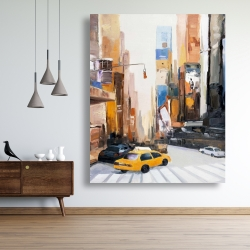 Canvas 48 x 60 - City early in the morning