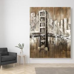 Canvas 48 x 60 - Aged finish golden gate