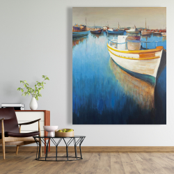 Canvas 48 x 60 - Fishing boats at the marina