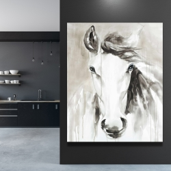 Canvas 48 x 60 - Beautiful abstract horse