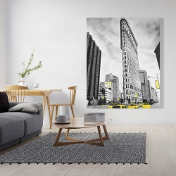 Canvas 48 x 60 - Outline of flatiron building to new-york