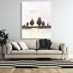 Canvas 48 x 60 - Abstract landscape of trees