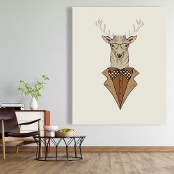 Canvas 48 x 60 -  deer with brown coat