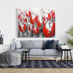 Canvas 48 x 60 - Abstract red tulips