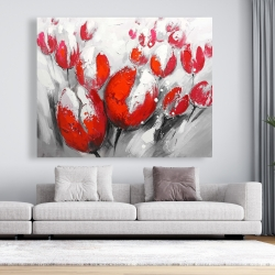 Canvas 48 x 60 - Red tulips