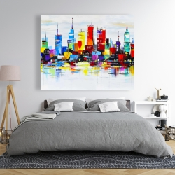 Canvas 48 x 60 - Abstract and colorful city