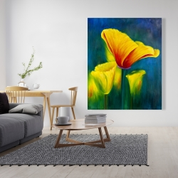 Canvas 48 x 60 - Beautiful colorful flowers
