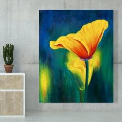 Canvas 48 x 60 - Superb contrast flowers