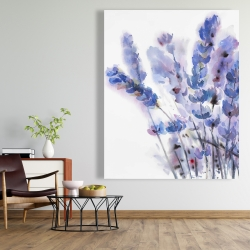 Canvas 48 x 60 - Watercolor lavender flowers