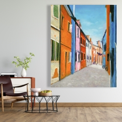 Canvas 48 x 60 - Colorful houses in italy