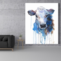 Canvas 48 x 60 - Watercolor jersey cow