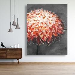Canvas 48 x 60 - Abstract dahlia flower