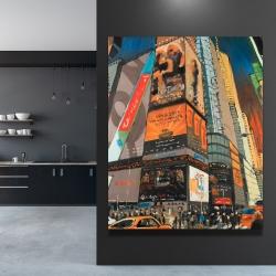 Canvas 48 x 60 - Illuminated new york city street