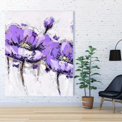 Canvas 48 x 60 - Purple anemone flowers