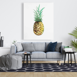 Canvas 48 x 60 - Watercolor pineapple