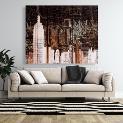 Canvas 48 x 60 - The empire city of newyork