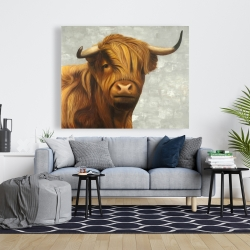 Canvas 48 x 60 - Highland cattle