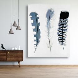 Canvas 48 x 60 - Delicate blue feathers