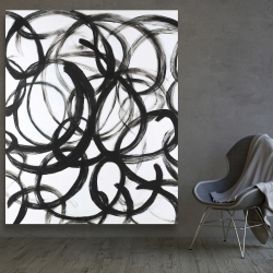 Canvas 48 x 60 - Abstract curly lines