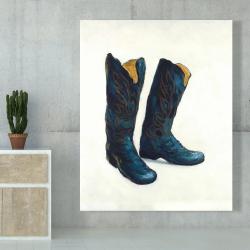 Canvas 48 x 60 - Leather cowboy boots