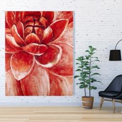 Canvas 48 x 60 - Red chrysanthemum