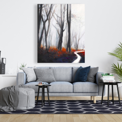 Canvas 48 x 60 - Mysterious forest with stream