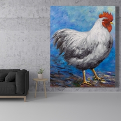 Canvas 48 x 60 - Grey rooster