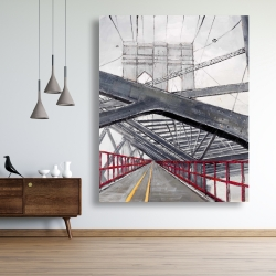 Canvas 48 x 60 - Under the brooklyn bridge