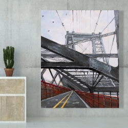 Canvas 48 x 60 - Bridge architecture