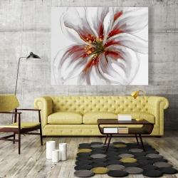 Canvas 48 x 60 - Resplendent pink orchid