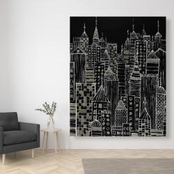 Canvas 48 x 60 - Illustrative city towers