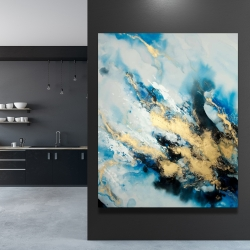 Canvas 48 x 60 - Blue marble