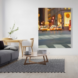 Canvas 48 x 60 - Blurred view of new york