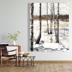 Canvas 48 x 60 - Winter swamp
