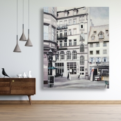 Canvas 48 x 60 - Street scene in germany