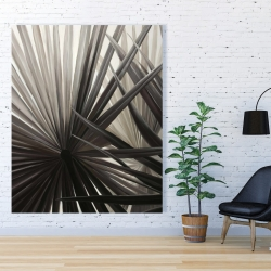 Canvas 48 x 60 - Grayscale tropical plants