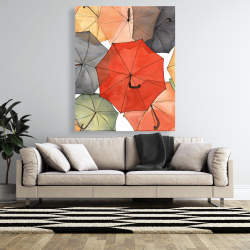 Canvas 48 x 60 - The umbrellas of petit champlain