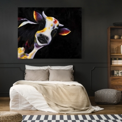 Canvas 48 x 60 - One funny cow