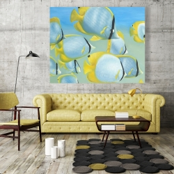 Canvas 48 x 60 - Butterfly fishes