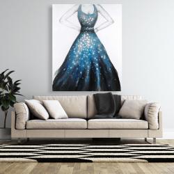 Canvas 48 x 60 - Blue princess dress