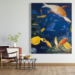 Canvas 48 x 60 - Colorful fish under the sea