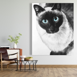 Canvas 48 x 60 - Blue eyes siamese cat